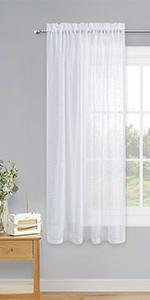 linen look sheer curtains