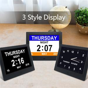 digital days clock