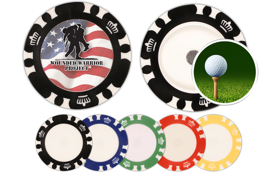 Custom ball markers and poker chips with color options