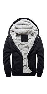 Fleece Lined Zip Hoodie Sweatshirts