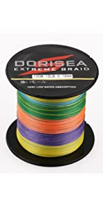 300M Super Strong Dorisea Pro Dyneema Extreme PE Trecciati Pesca lenza