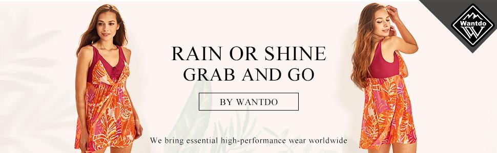 Wantdo Women's Plus Size Swimdress