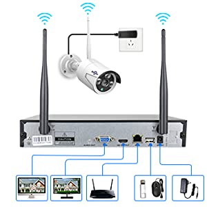 vvb  [Expandable 8CH] Hiseeu Wireless Security Camera System with 1TB Hard Drive with One-Way Audio, 8 Channel NVR 4Pcs 1080P 2.0MP Night Vision WiFi IP Security Surveillance Cameras Home Outdoor 685329ba fb25 415e bbe9 f34ef2b53163