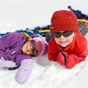 Winter Warm Thermal Snow Socks-Sporty Pink,M Highcamp 2 Pairs Merino Wool Ski Socks for Toddler Kids Boy Girl