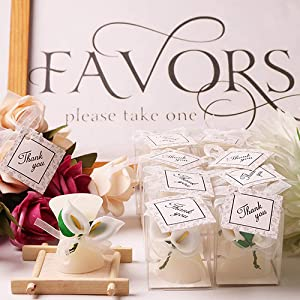 wedding favors calla lily candles