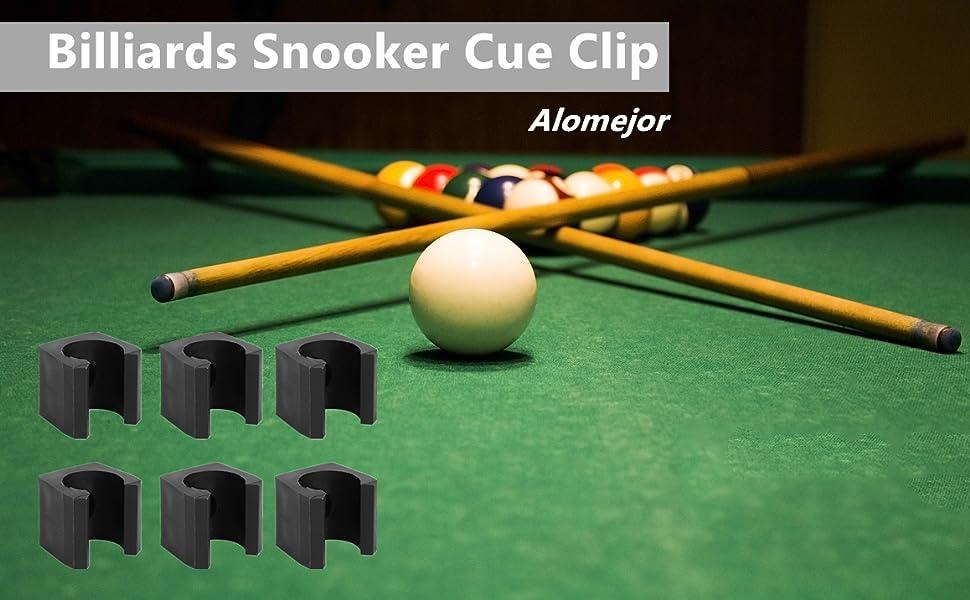 Alomejor Clip 6 st/ücke Kunststoff Leichte Billard Pool Einzelhalter Mini Rod Organizer Tr/äger Zubeh/ör Pool Queue Billard Stick Rack Clips f/ür Billard Queue Sticks