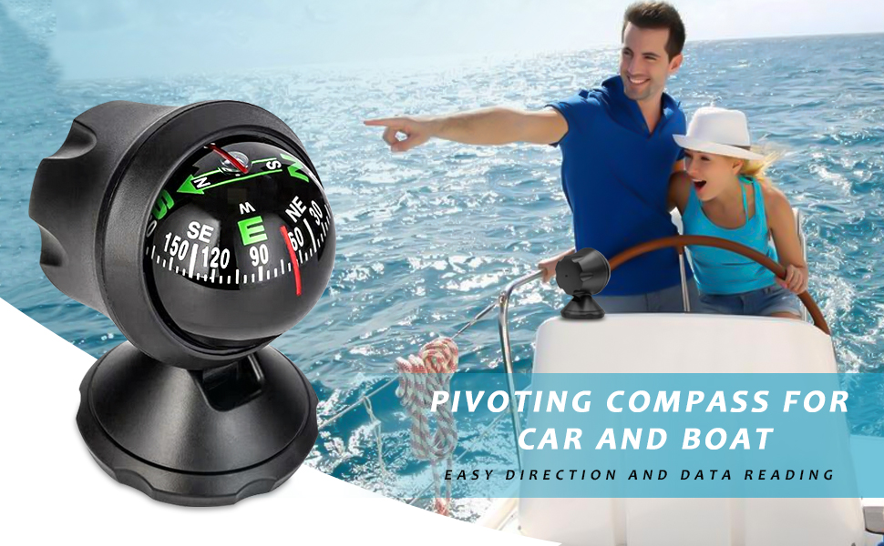 Automotive Compass Ball for Car or Boat