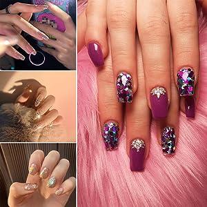 Sequin manicure