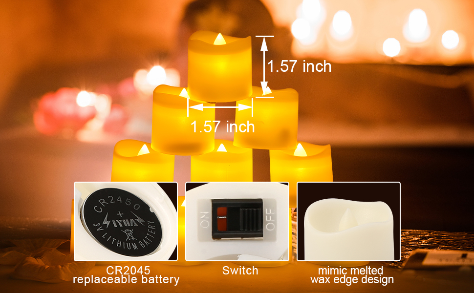 12 pcs tea lights