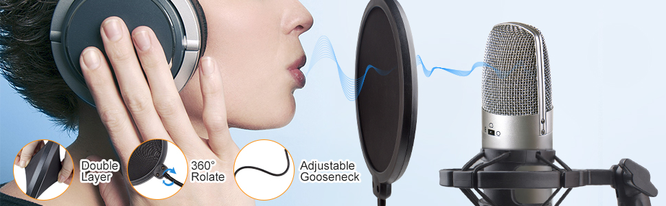 Microphone Stand Adjustable Studio Mic Stand Suspension Boom Scissor Arm