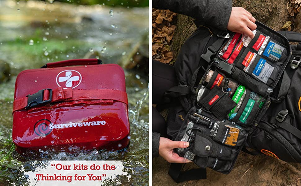 Waterproof First Aid Kit + Survival First Aid Kit