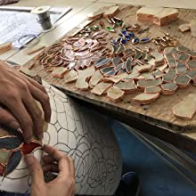 Placing glasses on the mould