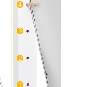 4-Angle Tilting Full Length Swivel Mirror