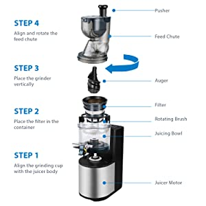 extracter powerful jucers appliances juicy whole power juser no pulp estractores extractors fresh