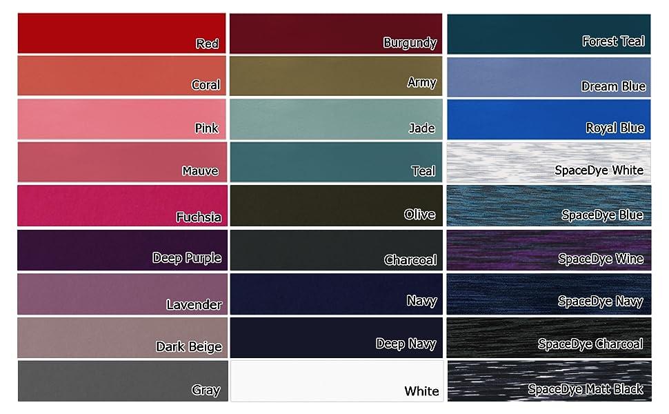 Yoga pants color map
