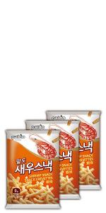 paldo snack shrimp cracker stick chips