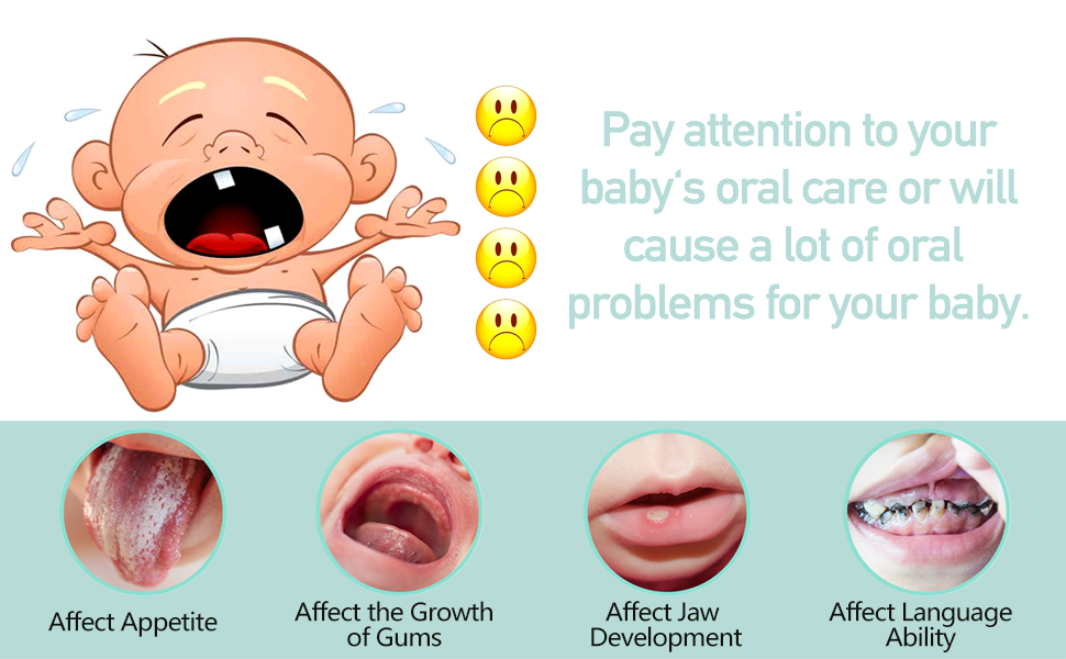 baby oral care - Baby Toothbrush, Infant Toothbrush Clean Baby Gums Disposable Tongue Cleaner Gauze Toothbrush Infant Oral Cleaning Stick Dental Care For 0-36 Month Baby