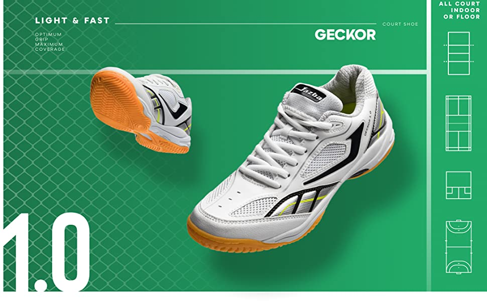 Jazba Badminton Racquetball Squash Shoes for Women Men GECKOR 1.0, Indoor Court Sneaker Best for Volleyball Table Tennis Pickleball Training, Non ...