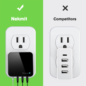 Mua Nekmit USB C Charger, Thin Flat 42W 4 Port Wall Charger with One 18W Power Delivery PD 3.0 and 3 USB Port for iPad Pro, iPhone 11