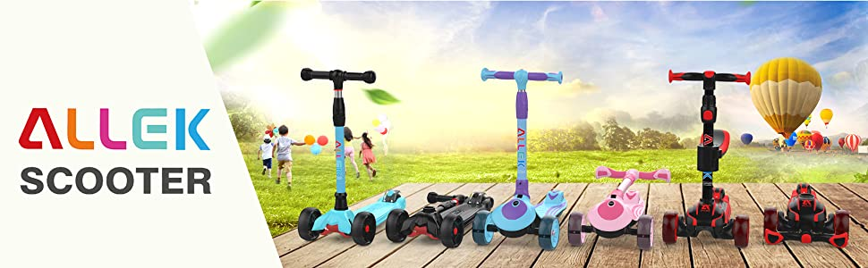 allek logo brand scooter B02 F01 D01 kick push kids lean to turn