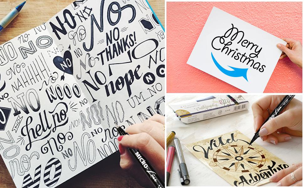 lettering pens calligraphy brush pen