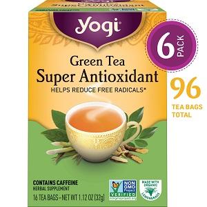 yogi green tea super antioxidant helps reduce free radicals