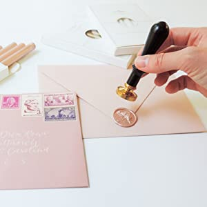 sealing wax wax seal stamp wedding invitations wedding place card gift wrapping DIY craft lovers