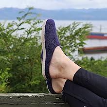indigo, blue, slippers