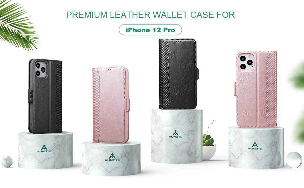 Amazon Com Aunote Comaptible With Iphone 12 Pro Wallet Case Pu Leather Kickstand Card Slots Case With Soft Inner Shell Full Body Protective Cover For Iphone 12 Pro 6 1in Phone 2020 Rose Gold Electronics