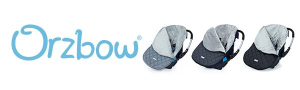 Infant Black Orzbow Canopy Style Bunting Bag to Protect Baby from Cold and Winter Weather in Car Seats and Strollers Blackout