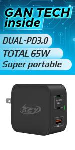 GaN usb c charger 65W