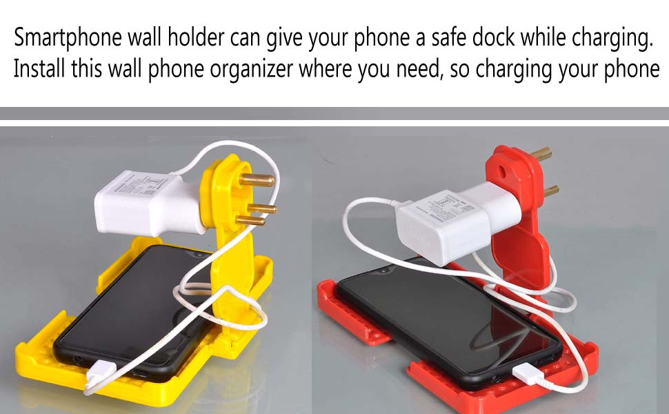 Smartphone wall holder can give your phone a safe dock while charging. Install this wall