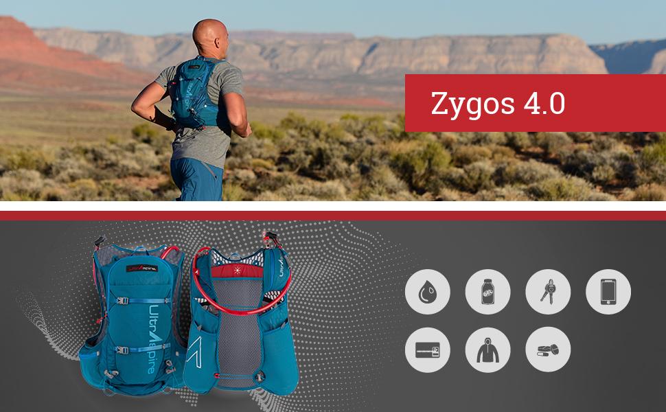 ultraspire zygos 4.0 hydration vest running features