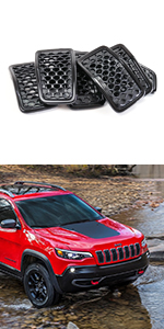 black grille inserts for 2019-2021 jeep cherokee