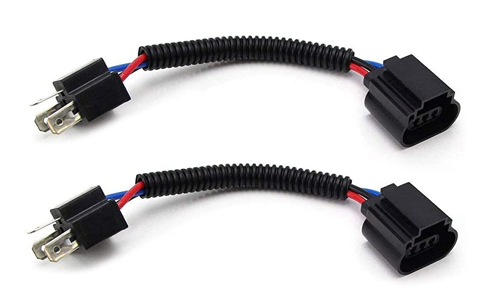 Amazon.com: (2) iJDMTOY H4 9003 To H13 9008 Pigtail Wire Wiring Harness  Adapters Compatible With H4/H13 Headlight Conversion Retrofit: AutomotiveAmazon.com