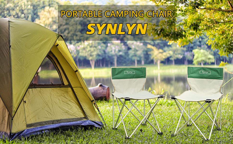 Synlyn Silla de Camping Plegable Silla Plegable de Camping Silla Plegable Silla de Pesca Ultraligera Silla de Pescador Silla de Exterior para Acampar, ...