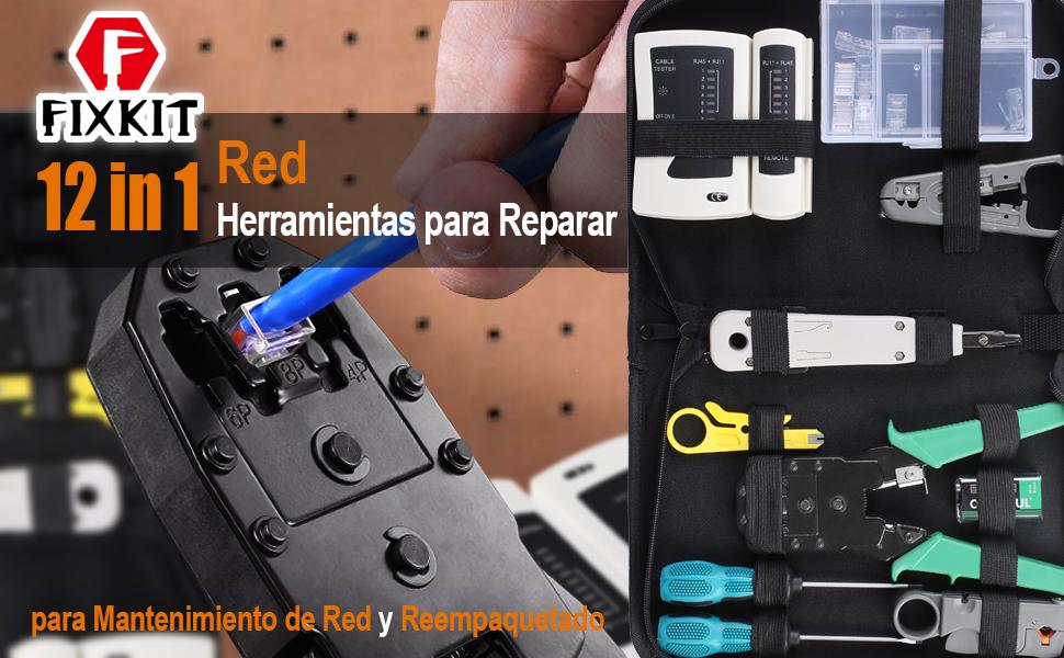 FIXKIT Kit de Herramientas de Reparación de Red Comprobador de ...