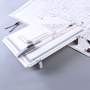 drafting board with parallel