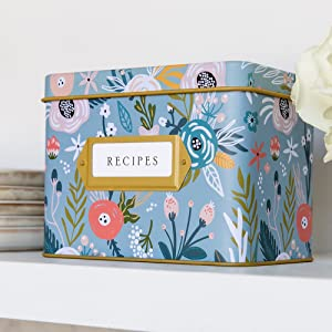 Jot Mark Recipe Tin Cards Family Memories Dinner Lunch Appetizers Beautiful Chic