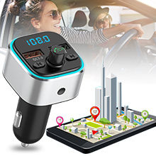 WLKJ Transmisor FM Transmisor//Bluetooth//Bluetooth con TF reproducci/ón reproducci/ón reproducci/ón del Disco de U para AUX IN//out para Todos los Coches de 12-24V