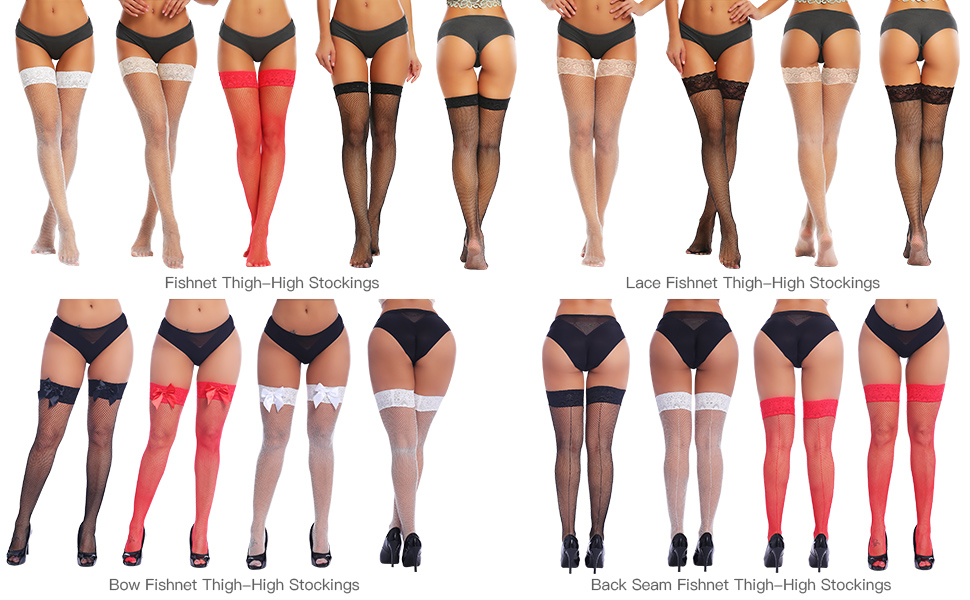 fishnet thigh high stocking