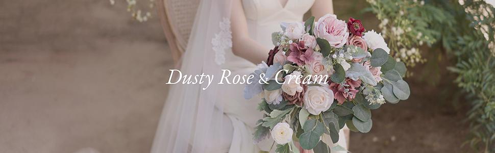 Dusty Rose and Cream Wedding Flower Decoration