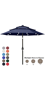3-Tier LED Patio umbrella