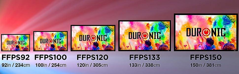 Duronic FFPS92 Pantalla de Proyección con Marco para Instalación ...