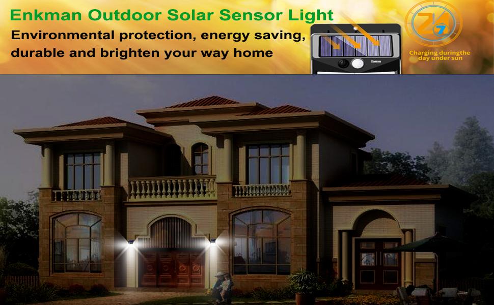 Outdoor Solar Sensor Light