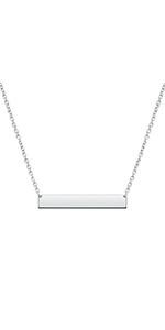 Bar Necklaces Initial