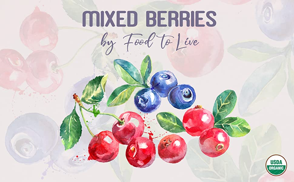 organic mixed berries, food to live