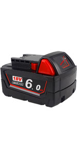 m18 battery 6.0ah for milwaukee 18v lithium-ion electric tools