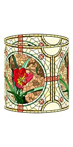 Lamp Shade Stained Glass Style Red