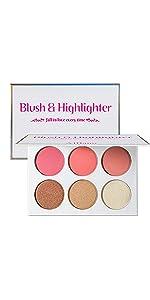 eyeshadow pink blush highlighter